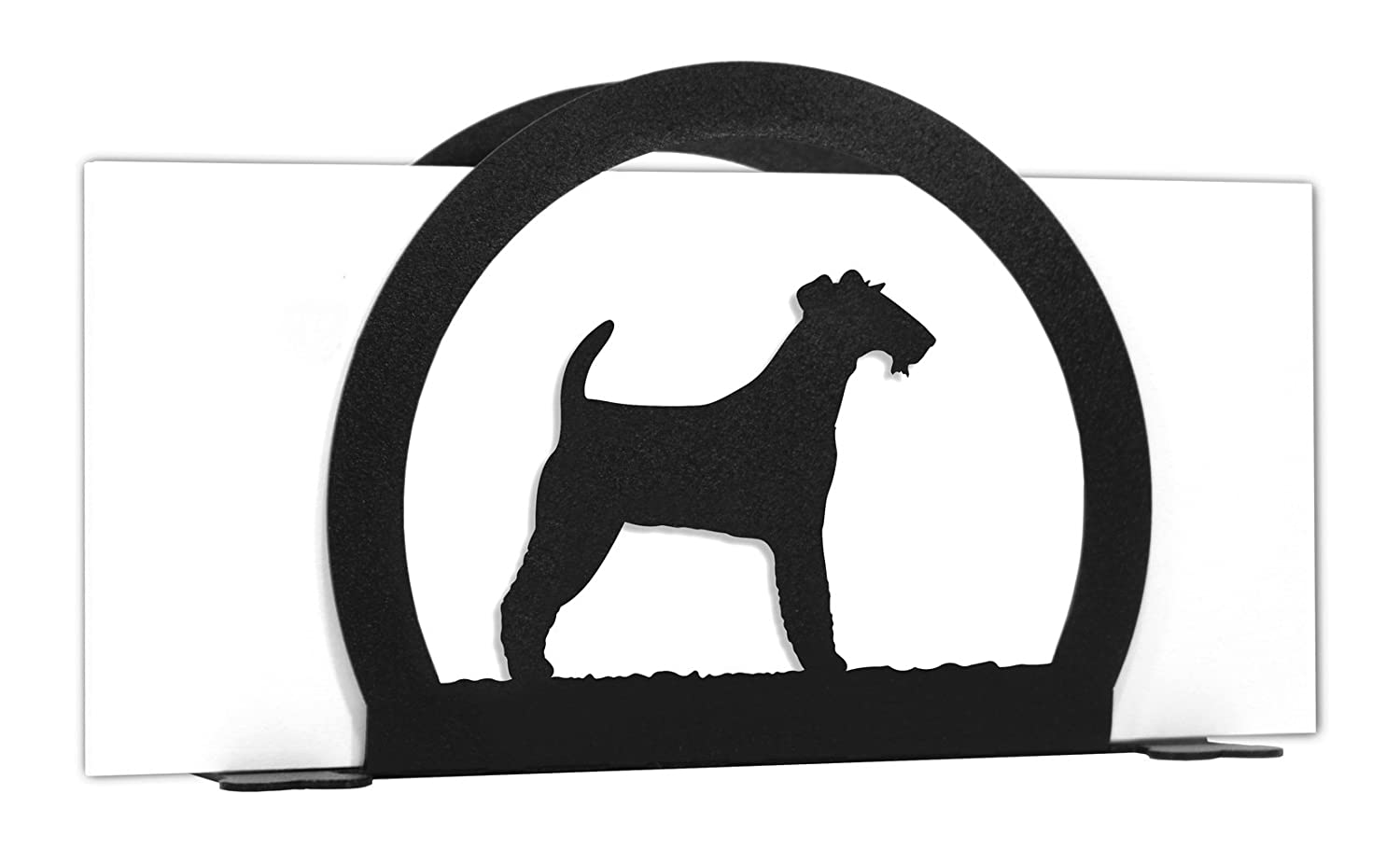 IRISH WIRE FOX TERRIER Metal Letter Napkin Card Holder   B01NBY4OCR