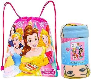 Disney / Northwest Princess Fleece Throw Blanket & Sling Tote Bag - 2 pc Set