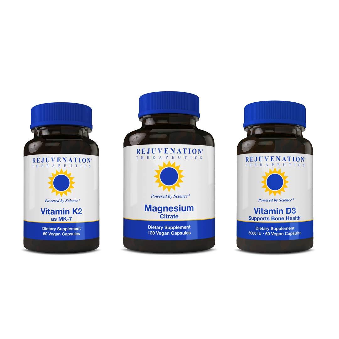 Rejuvenation Therapeutics Osteo Combo- Vitamin K2MK7, Vitamin D3, Magensium Citrate