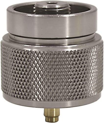 EN417 Lindal Valve or 16oz//1lb Gas Canister REDCAMP Small Camping Stove Adapter Two Types Output