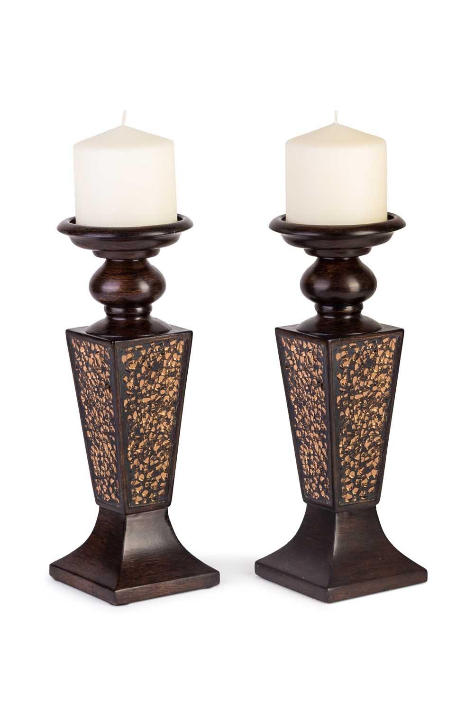 amazon com creative scents schonwerk pillar candle holder set of