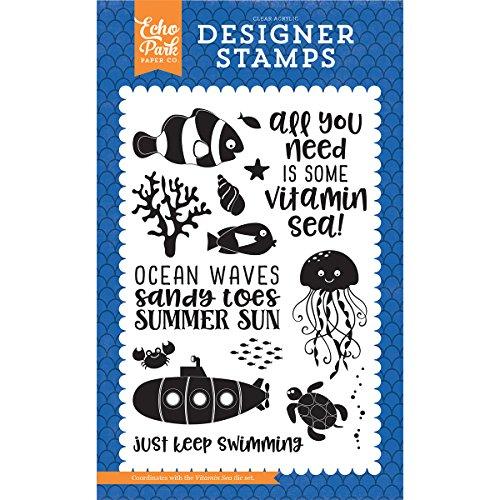 Echo Park Paper Company Vitamin Sea 4X6 Stamp