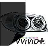 "VViViD Dark Black Headlight Taillight Tint Air-Release Vinyl Wrap Film Roll (1.49ft x 60"")"