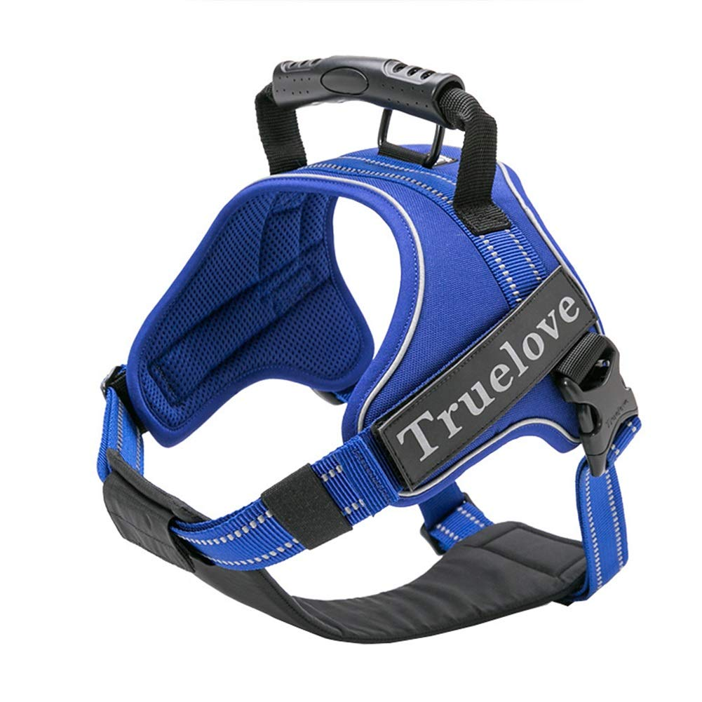 Blue XS Blue XS Dog Vest Harness, Chest Strap Regolabile Explosion -Projective Strip Comfortable Breakable Leash for Small Medium and Large Dogs Chest Strap (colore: Blue, Size: XS)