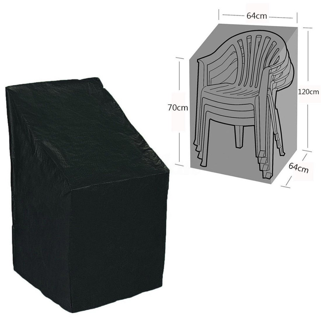 Waterproof Patio Chair Cover Folding Outdoor Patio Furniture Protectors TM