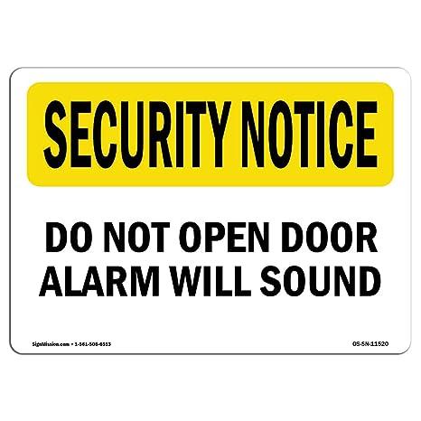 Amazon.com: OSHA Seguridad aviso señal – No abrir puerta ...
