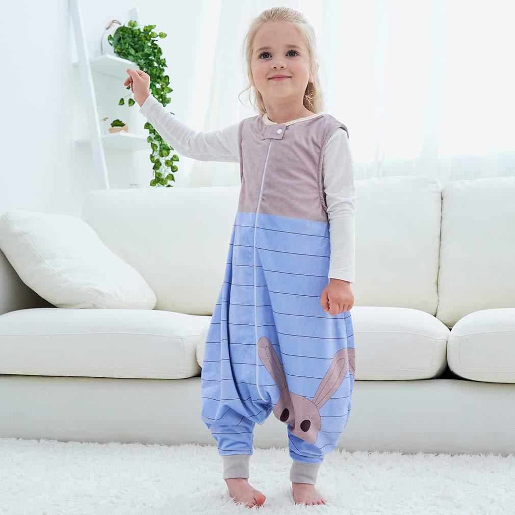 m/ädchen und Junge Schlummersack mit Beinen Vierjahreszeiten,Blau 1-3 Jahre MICHLEY baby schlafsack mit F/ü/ßen