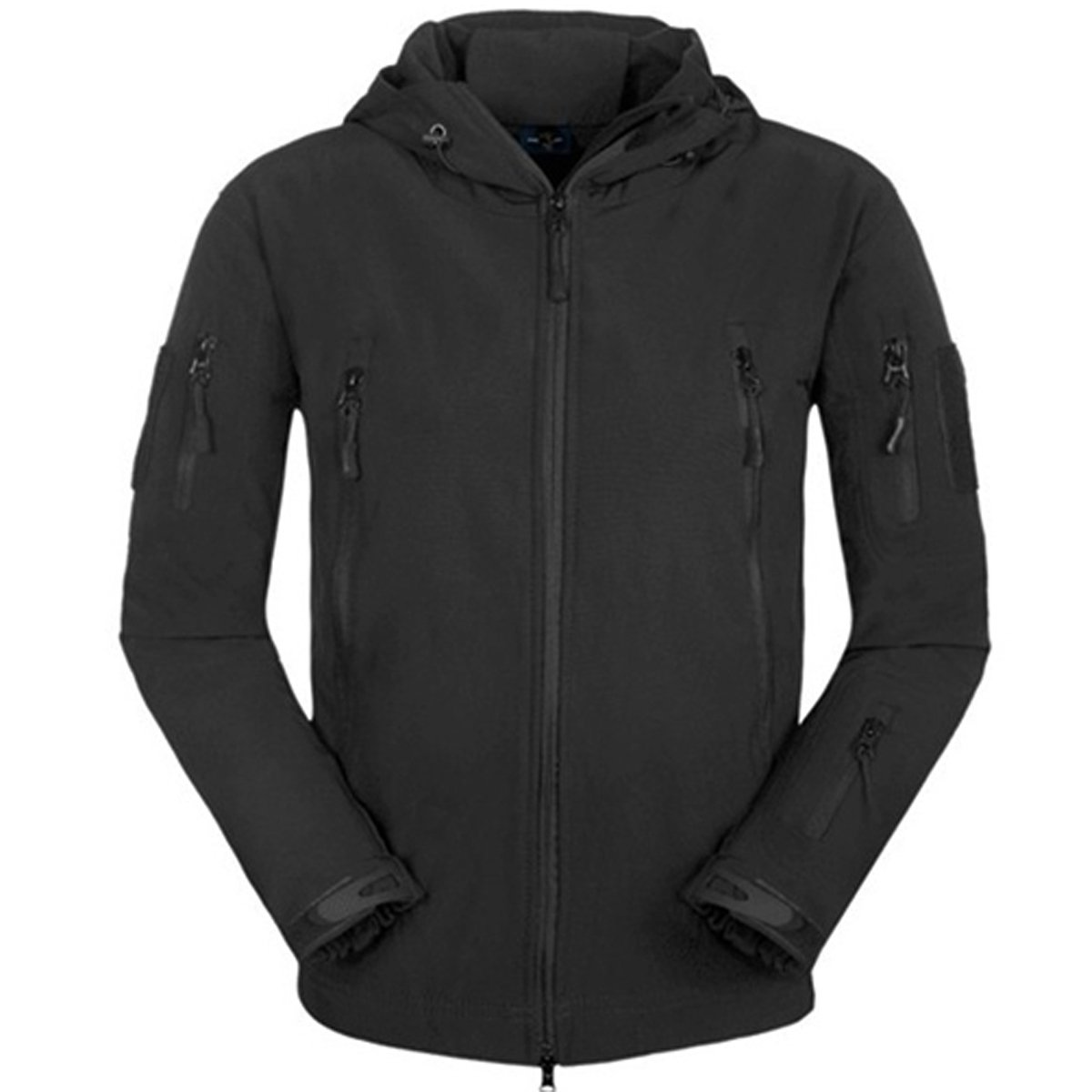 Eglemall Men's Outdoor Hunting Soft Shell Waterproof Tactical Fleece Jackets (Large, Black) by Eglemall