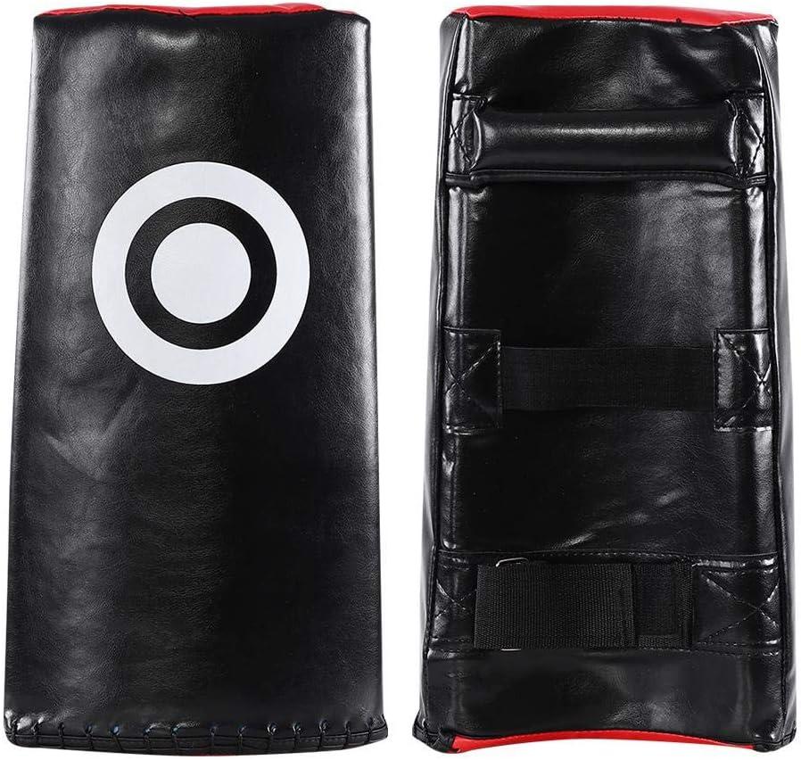 Alomejor 1PC Taekwondo Kick Pad Surface de poin/çonnage incurv/ée Karat/é Kicking Shield en Cuir PU pour Les Enfants Adultes Boxe Art Martial Kick Boxing Formation