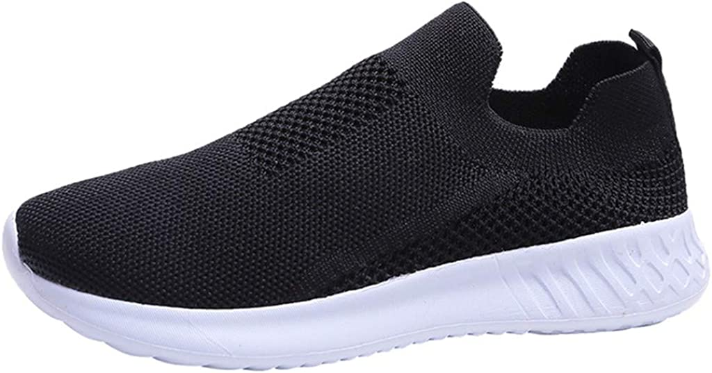 Goldweather Women Running Shoes Breathable Mesh Slip on Sneakers Walking Athletic Shoes