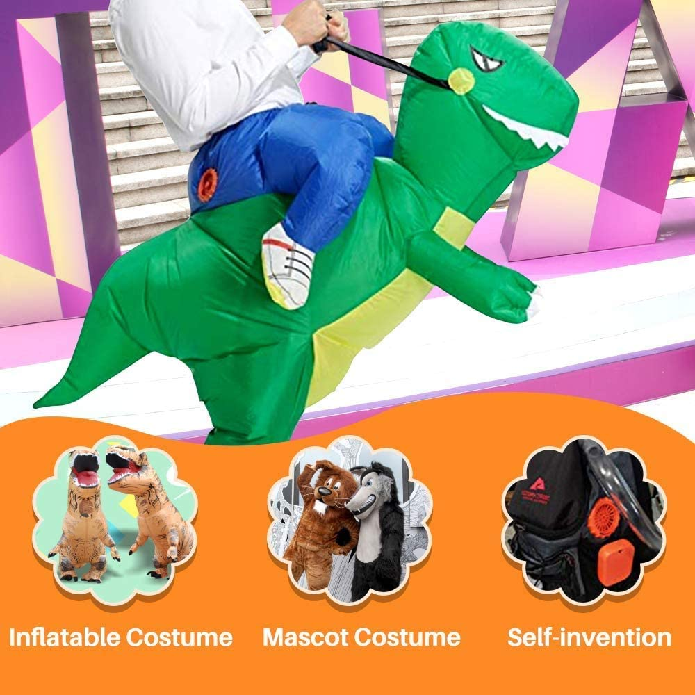 Mendom Originals Fan Mini Fan Blower for Dinosaur Costume Doll Mascot Head or Other Inflatable Game Clothing Suits,Orange Upgraded Version