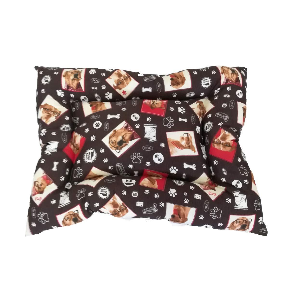 Cisne 2013, S.L. ¡Oferta! Cama para Perro y Gato Perritos con Gafas MARRÓN 55 * 40cm.: Amazon.es: Productos para mascotas