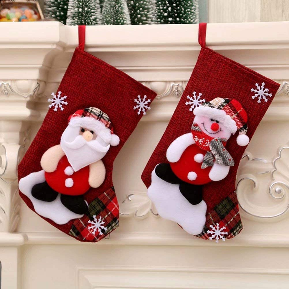 Christmas Eve Hanging Tree Ornament hefeilzmy 4 Pack Lovely Christmas Stockings for Kids Gifts Home Decor