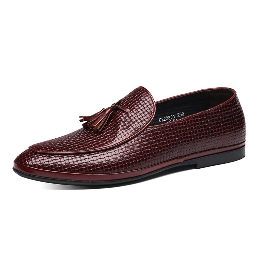 Zapatos Clásicos de Piel para Hombre Zapatos de Cuero de los Hombres de Primavera Zapatos Casual Borla Estilo Británico Tumbona (Color : Marrón, Tamaño : EU40/UK6.5) EU40/UK6.5 Marrón
