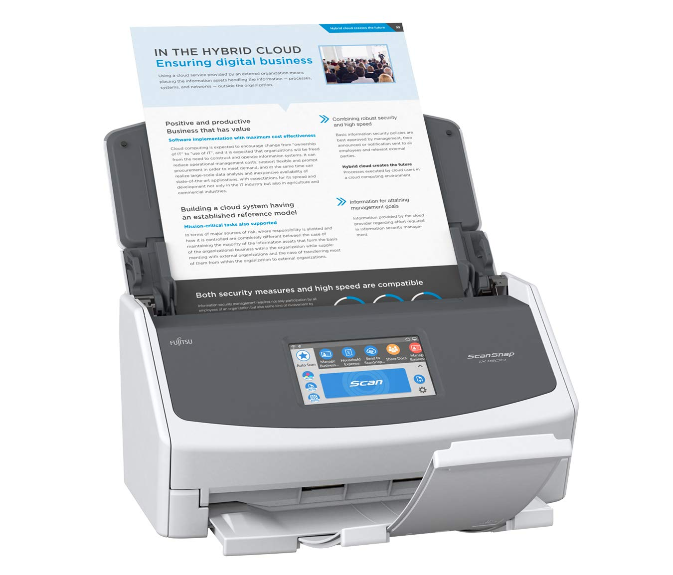 Fujitsu ScanSnap iX1500 Color Duplex Document Scanner with Touch Screen for Mac and PC [Current Model, 2018 Release] by Fujitsu (Image #3)