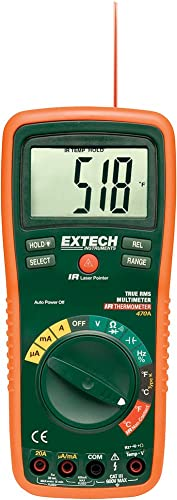 Extech EX470A Professional True RMS Multimeter with 12 Functions and IR Thermometer
