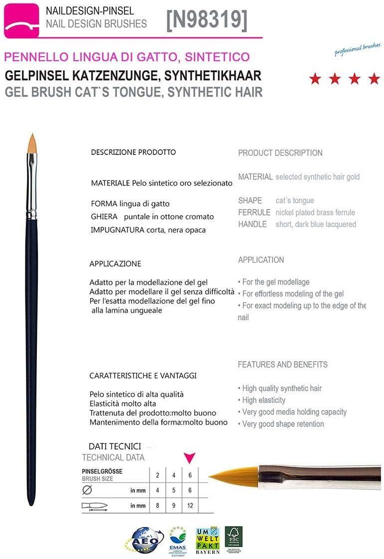 Pinceau Synth/étique Langue de chat n/°6