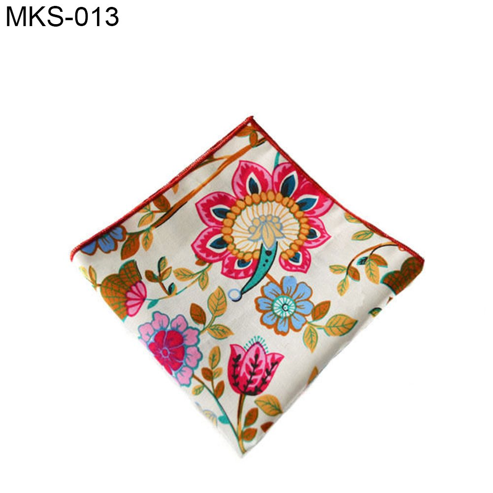 Infgreate Stylish Business And Durable Men Ethnic Flower Pocket Square Towel Handkerchief Wedding Party Hanky Gift
