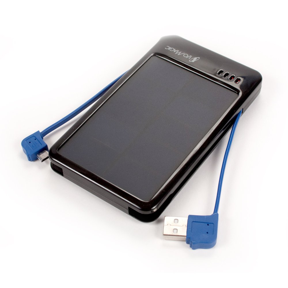 I/O Magic Dual Panel Solar Charger 4000mAh Battery - Retail Packaging - Gray by I/OMagic