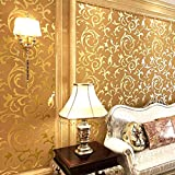 10m Fashion Modern Non Woven 3D Pattern Victorian Wallpaper Roll Print Embossed Moisture