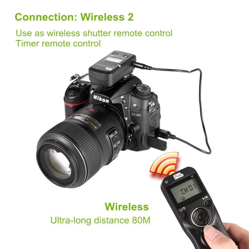 Pixel TW-283 E3 Disparador inal/ámbrico Control Remoto Mandos a Distancia para Canon c/ámara