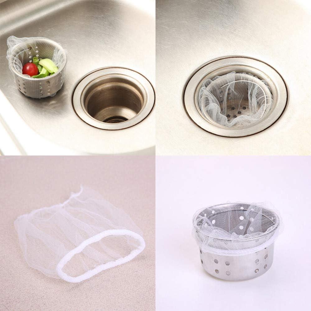 vijTIAN Filtro a rete per lavello da cucina 100 pezzi in grado di filtrare efficacemente vari residui di cibo accessori usa e getta