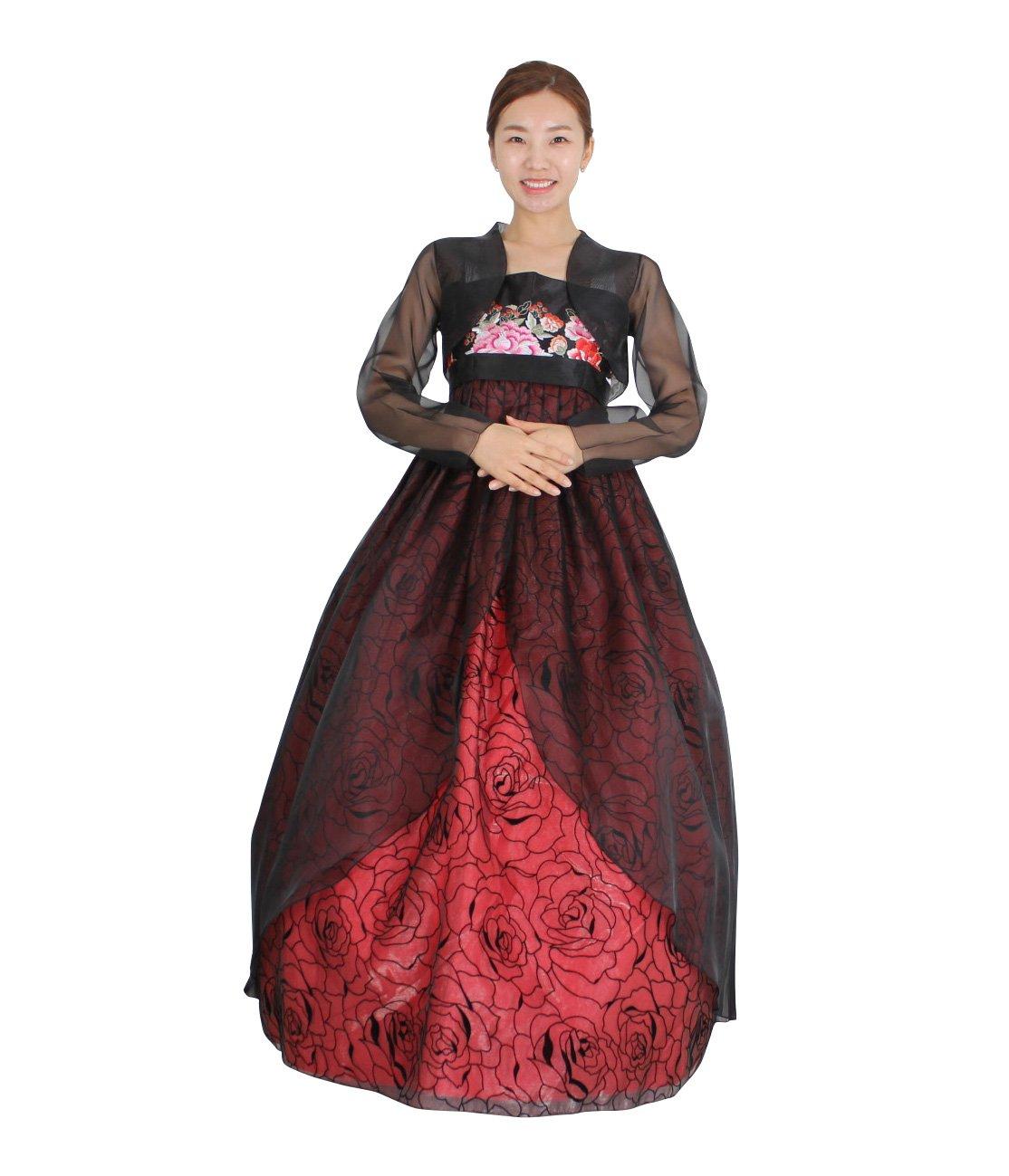 Hanbok Korea Traditional Costumes Women Junior Party Weddings Birthday Speical Ceremony co111 (skirt length 140cm (- 155cm)) by Hanbok store