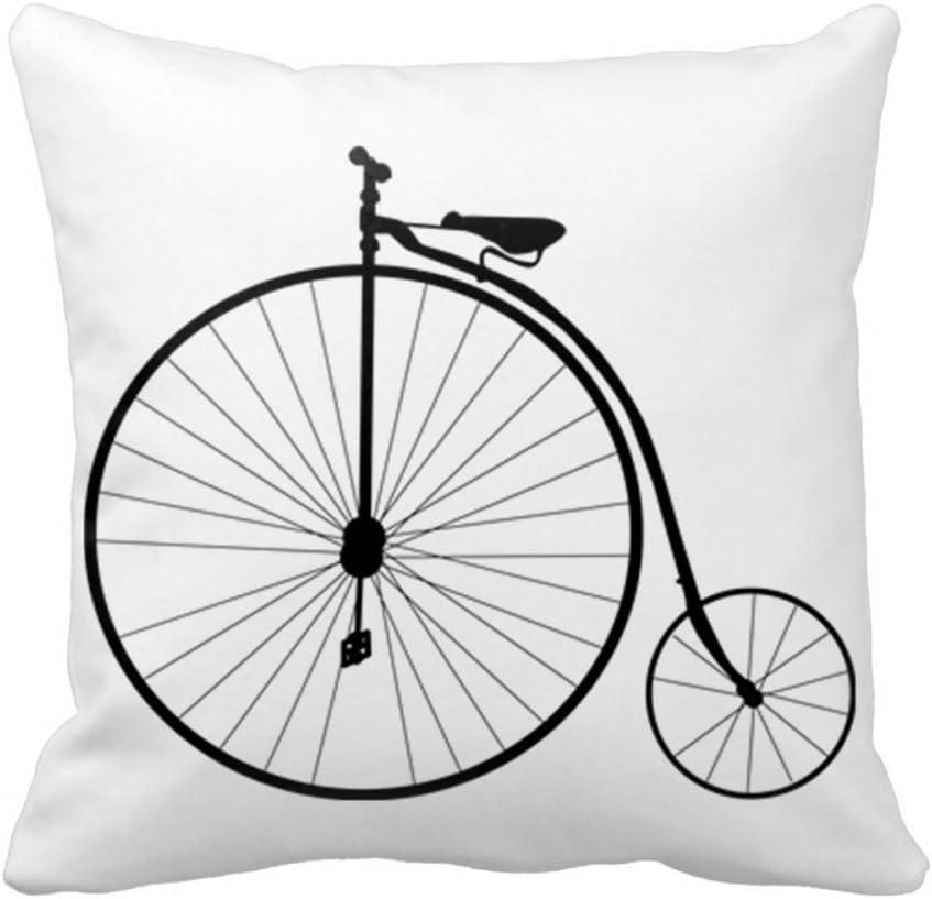 Bicicletas antiguas Hidoon cadorabo algodón cuadrado de tiro cojín ...