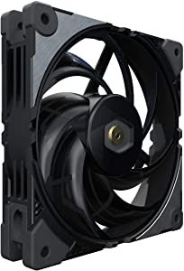Cooler Master MasterFan SF120M 120mm Premium Square Frame Fan w/PWM Control Industrial Grade Material, Inter-Link Fan Blade, Anti-Vibration Motor for Computer Case, CPU Liquid and Air Cooler
