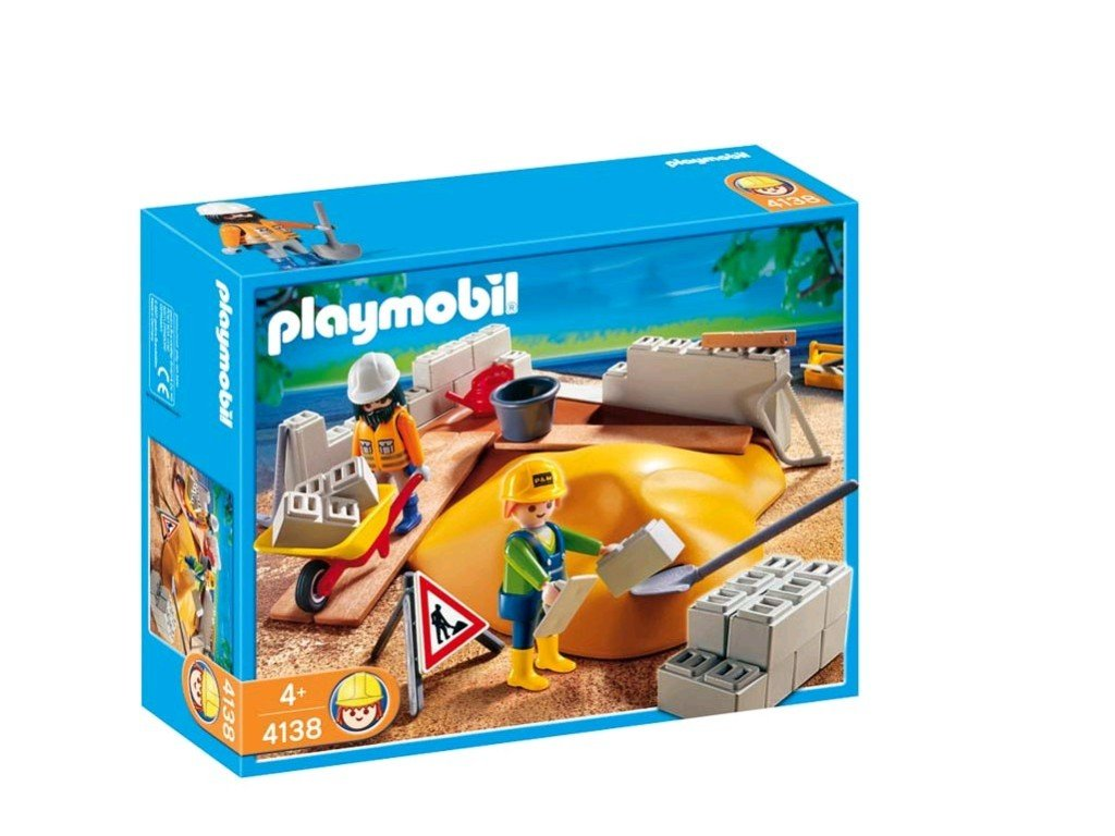 amazoncom playmobil construction compact set toys games - Playmobil Travaux