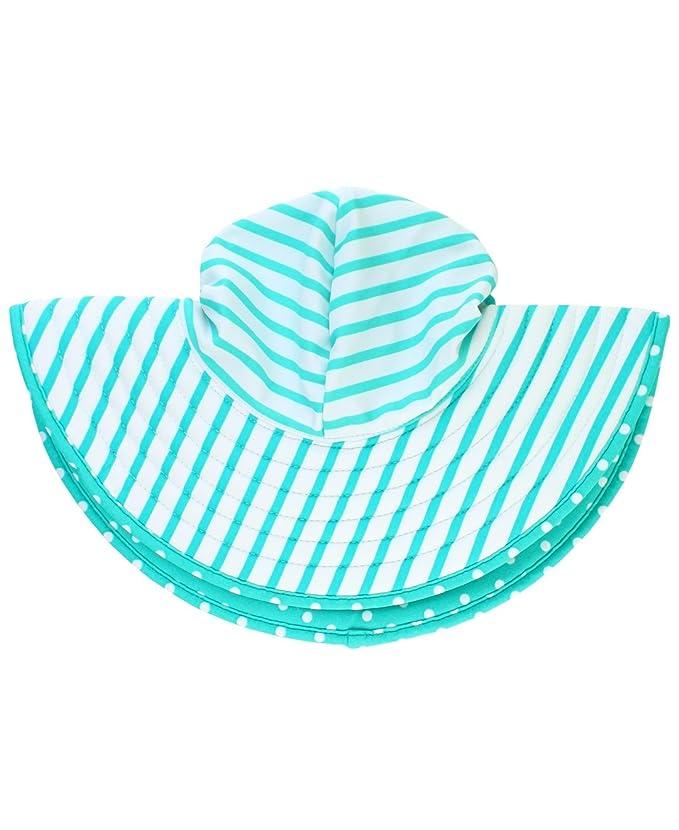 fe36fa9d1 RuffleButts Baby/Toddler Girls UPF 50+ Sun Protective Wide Brim Swimwear  Sun Hat