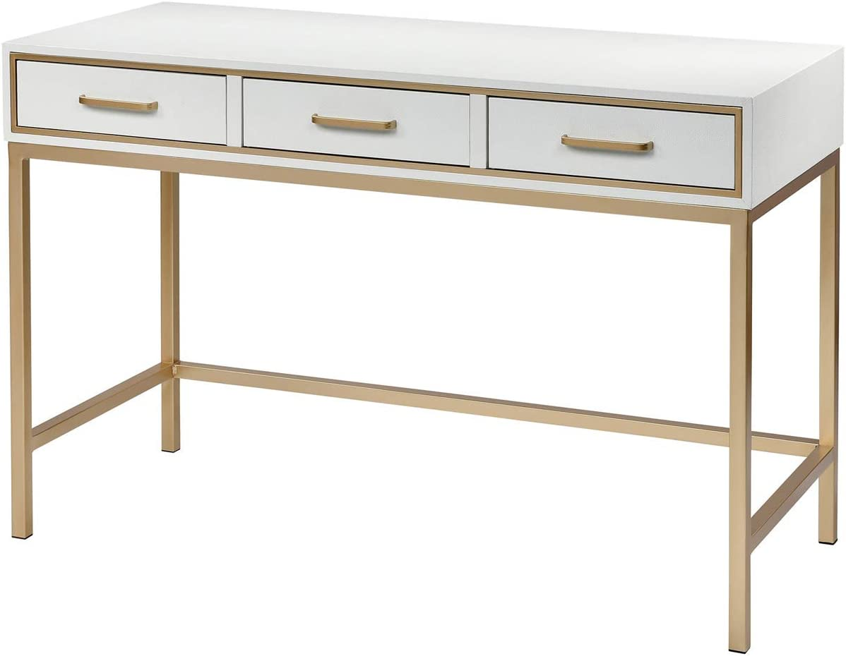 Sterling Home Sands Point White and Gold desk,