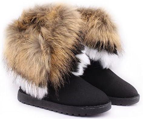 Liquor Women Winter Snow Boots Faux Fox
