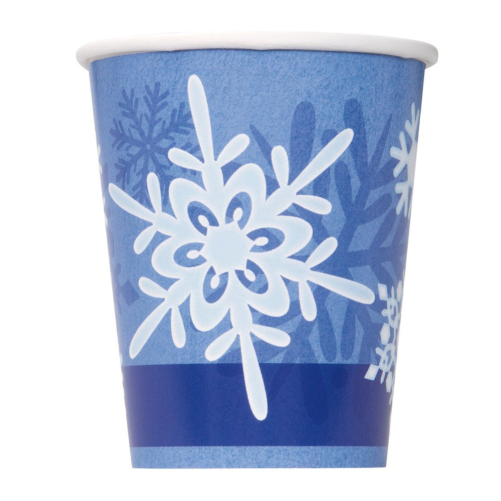 (Cups) - 270ml Winter Snowflake Holiday Party Cups, 8ct コップ  B00VYYR64E
