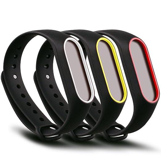 13 opinioni per Funkid, cinturino di ricambio, in silicone, per Xiaomi Mi Band 2, 3-Black