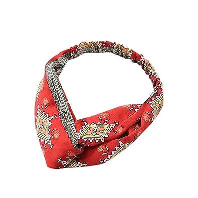 Cocoty-store Diademas Mujer El/ástica Turbantes Flor impresi/ón Diademas Deporte Nudo Banda para Cabello Yoga Cabeza Wraps