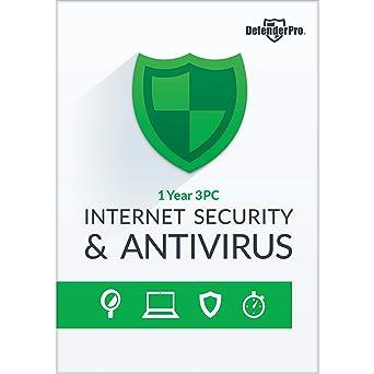 Amazon. Com: defender pro internet security & antivirus 1 yr 3 pcs.