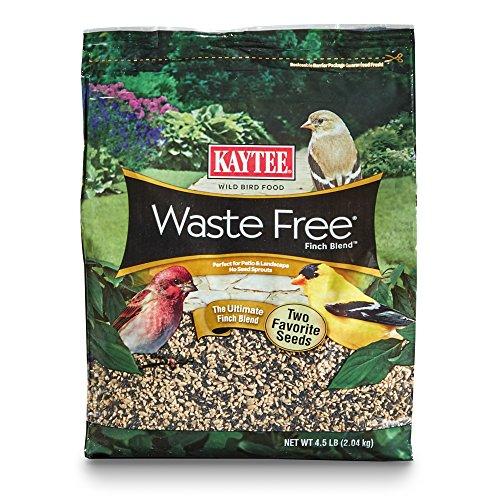 Own Bird Seed Blend - Kaytee Waste Free Finch Blend Stand Up Bag, 4.5-Pound