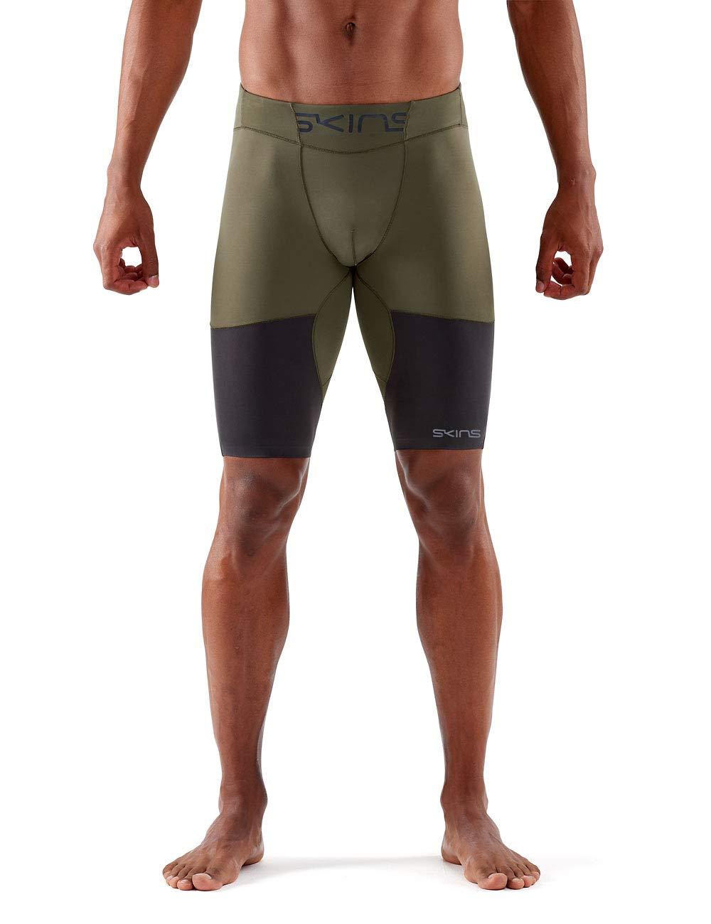 Skins Herren DNAmic Ultimate  Herren 1/2 Tights Utility/Charcoal M