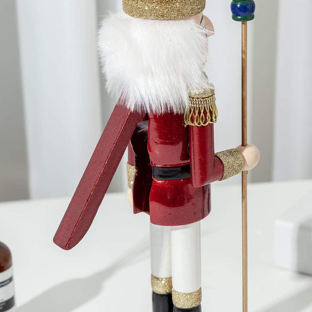 pour No/ël Sroomcla Casse-Noisettes Traditionnel en Bois /à Collectionner Facile /à Utiliser 3 pi/èces // 38 cm. pour d/écoration de No/ël Traditionnelle Rouge et Bleu