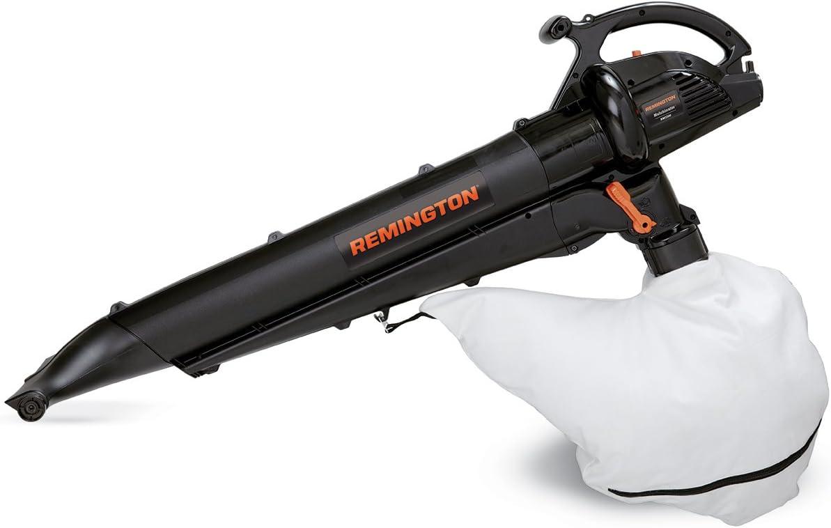 Remington RM1300 Mulchinator 3-in-1 12 Amp Electric Blower Mulcher Vacuum-Lightweight 2 Speed-10 1 Debris Reduction-Attachable Rolling Nozzle-2 Stroke