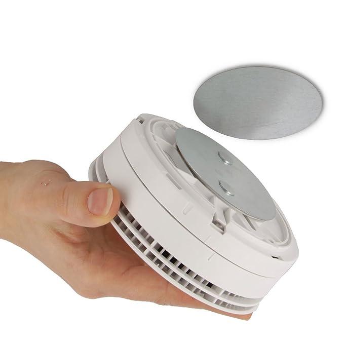 Jago - Juego de fijación magnética. Como accesorio para Abus - Detector de humos y calor humo (rwm50, rwm250, rwm120, RM10, RM15, RM20, RM40 - Sólo para ...