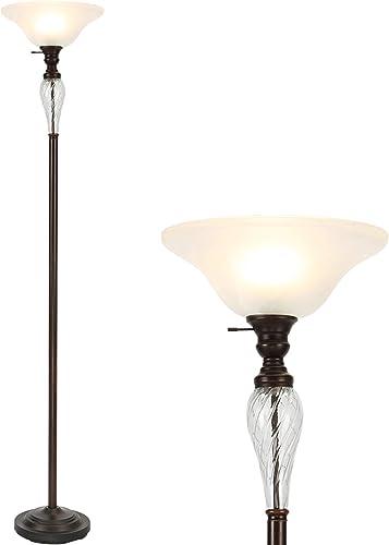 CO-Z Antique Bronze Torchiere Floor Lamp