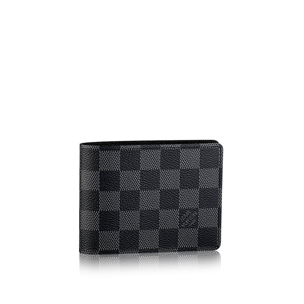 Louis Vuitton - Billetera múltiple Damier Graphite Canvas N62663: Amazon.es: Zapatos y complementos