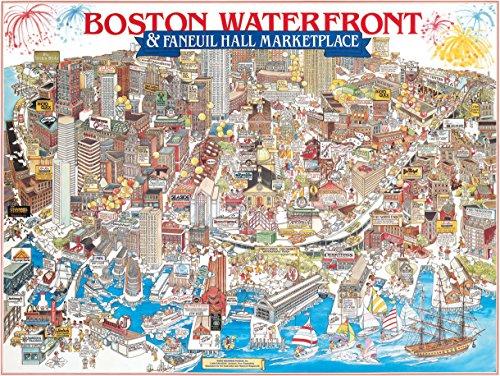 White Mountain Puzzles Boston Waterfront - 1000 Piece Jigsaw - Boston Puzzle