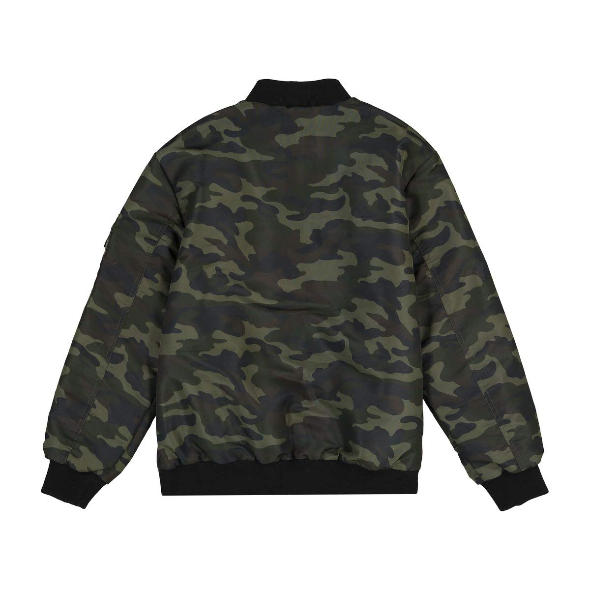 La Redoute Collections Big Boys Camouflage Bomber Jacket, 10-16 Years Green Size 14 Years - 63 in. by La Redoute (Image #2)