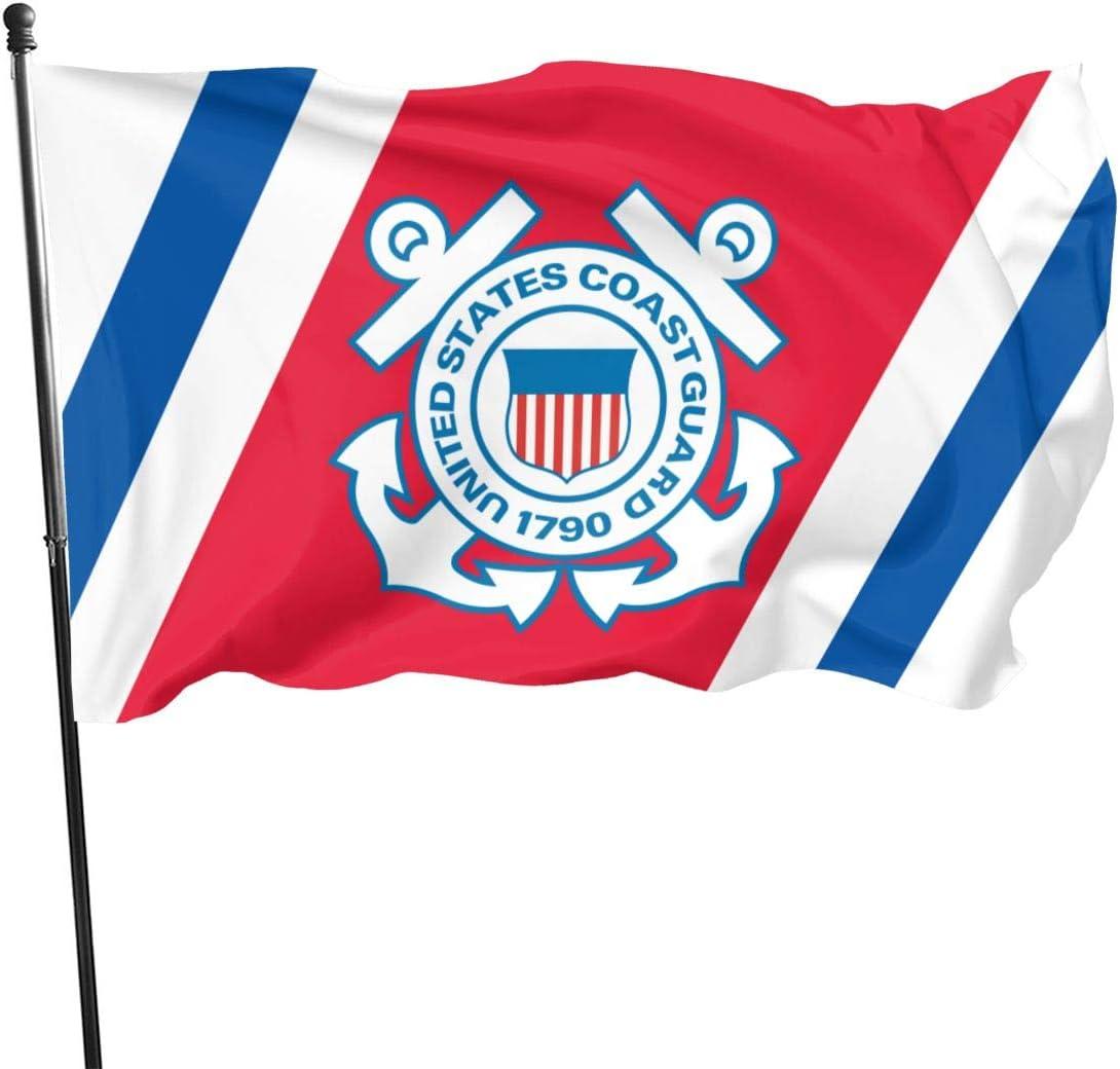 U.S. Coast Guard Veteran Flag 3x5 FT Outdoor Banner Garden House Home Decor Flag Fade Resistant