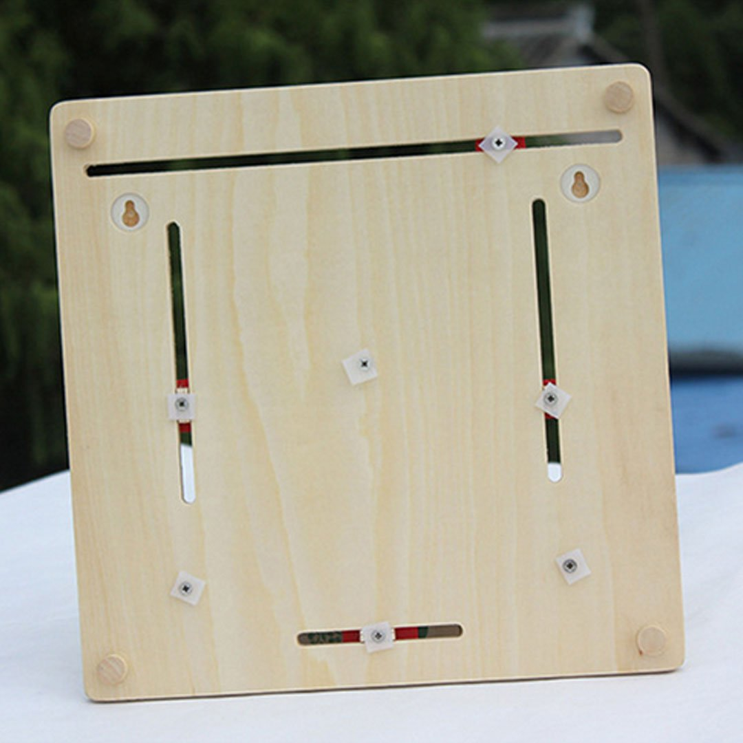 Monique Wooden Clock Board Toy Alarm Calendar Board Show Numbers Time Days Month Week Season Weather