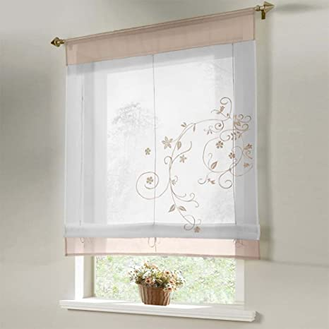 Portable flora sheer cucina bagno balcone finestra tenda a pacchetto ...