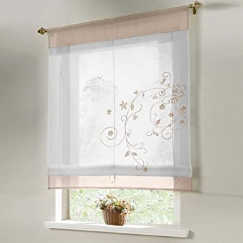 Flora, Balkon, Küche, Badezimmer, liftable Raffrollo, 60 x ...